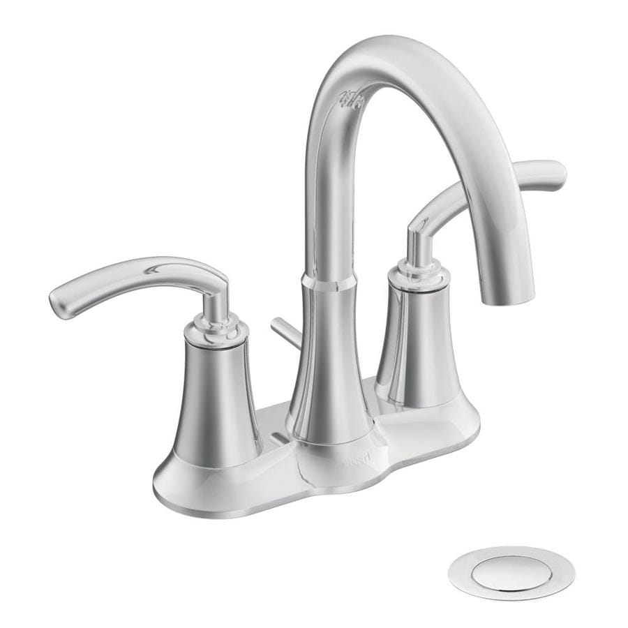 Moen Icon Chrome 2-Handle 4-in Centerset WaterSense Bathroom Faucet (Drain Included)
