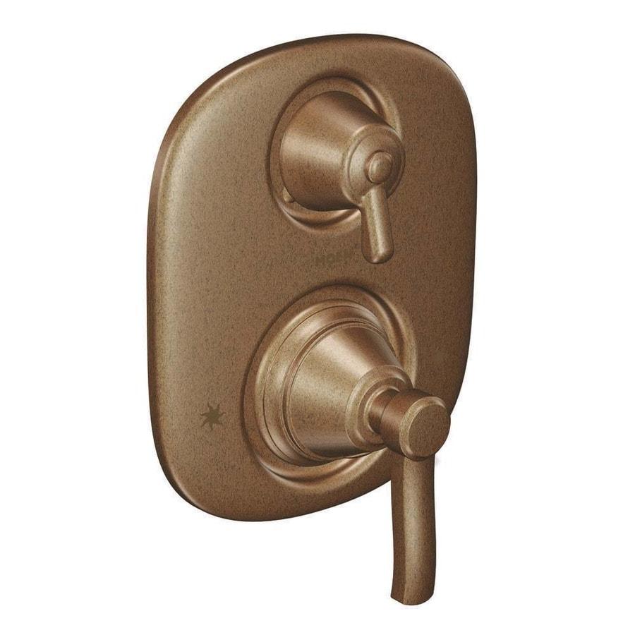 Moen Rothbury Antique Bronze 1-Handle Vertical Shower System Trim Kit with Single Function Showerhead