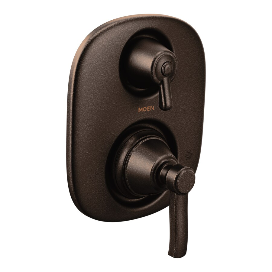 Moen Rothbury Oil-Rubbed Bronze 1-Handle Vertical Shower System Trim Kit with Single Function Showerhead
