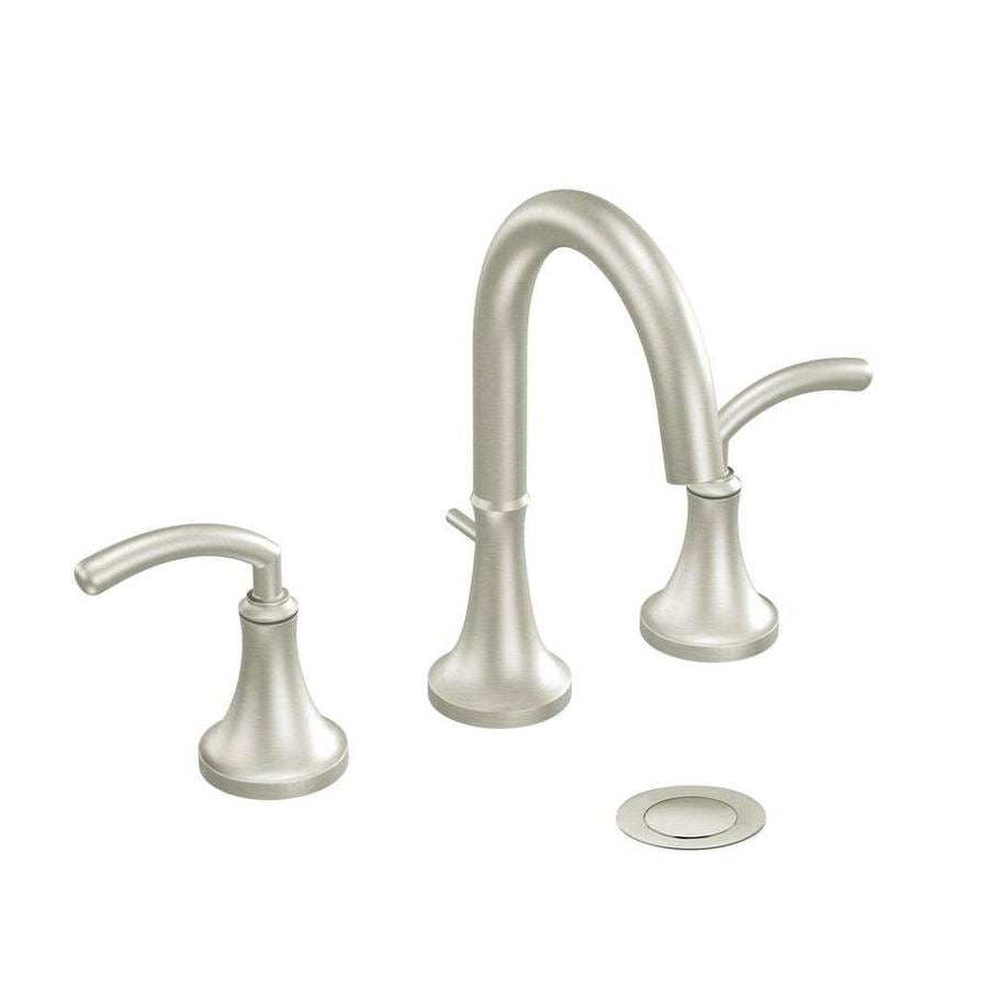 Shop Moen Icon Brushed Nickel 2 Handle Widespread Watersense Bathroom Faucet At