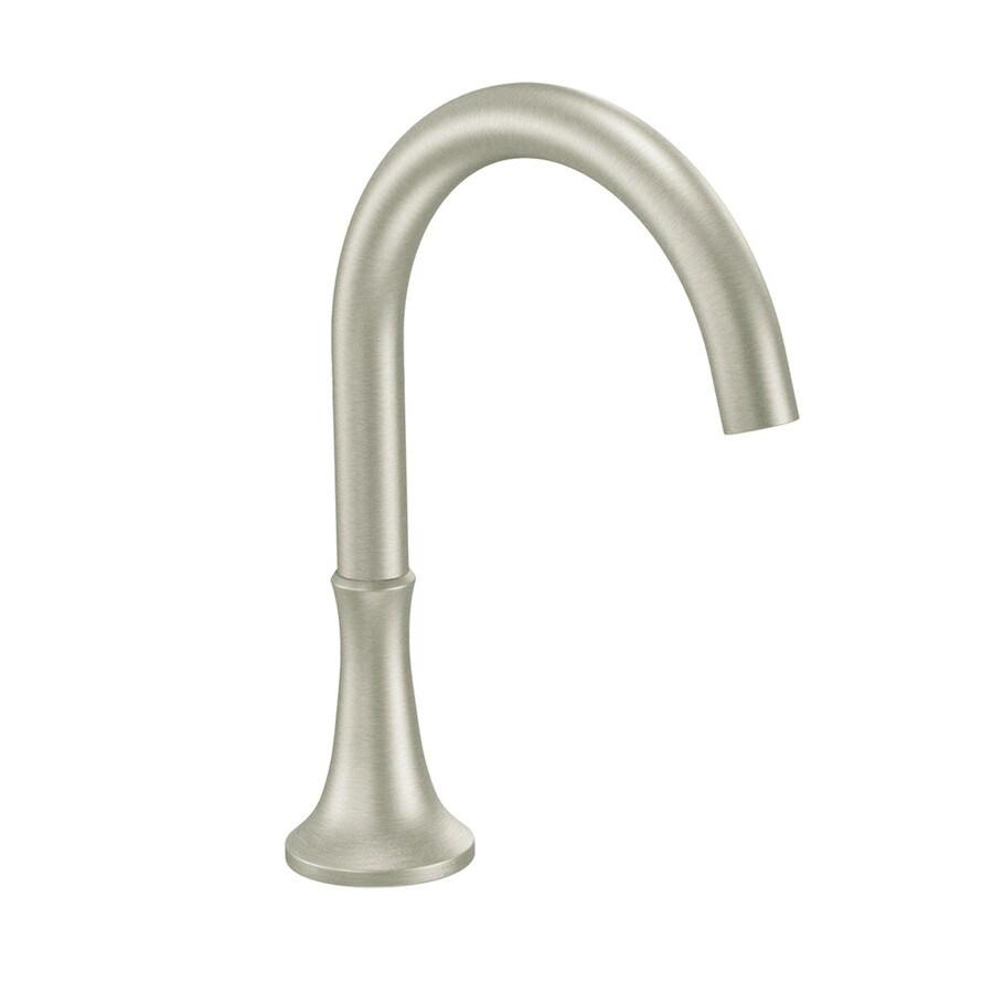Moen Icon Brushed Nickel Touchless-Handle Adjustable Deck Mount Bathtub Faucet