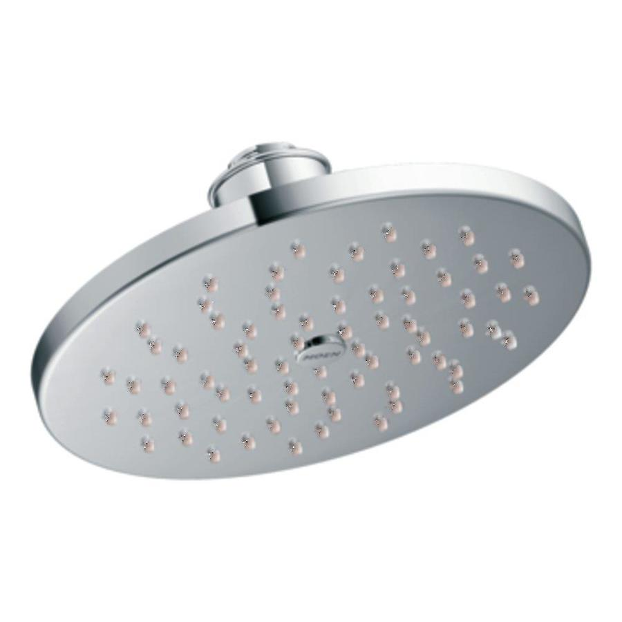 Moen 8-in 2.0-GPM (7.6-LPM) Chrome WaterSense Rain Showerhead