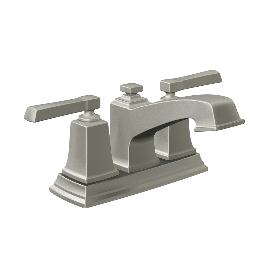 Shop Moen Boardwalk Spot Resist Brushed Nickel 2 Handle 4 In Centerset Watersense Bathroom