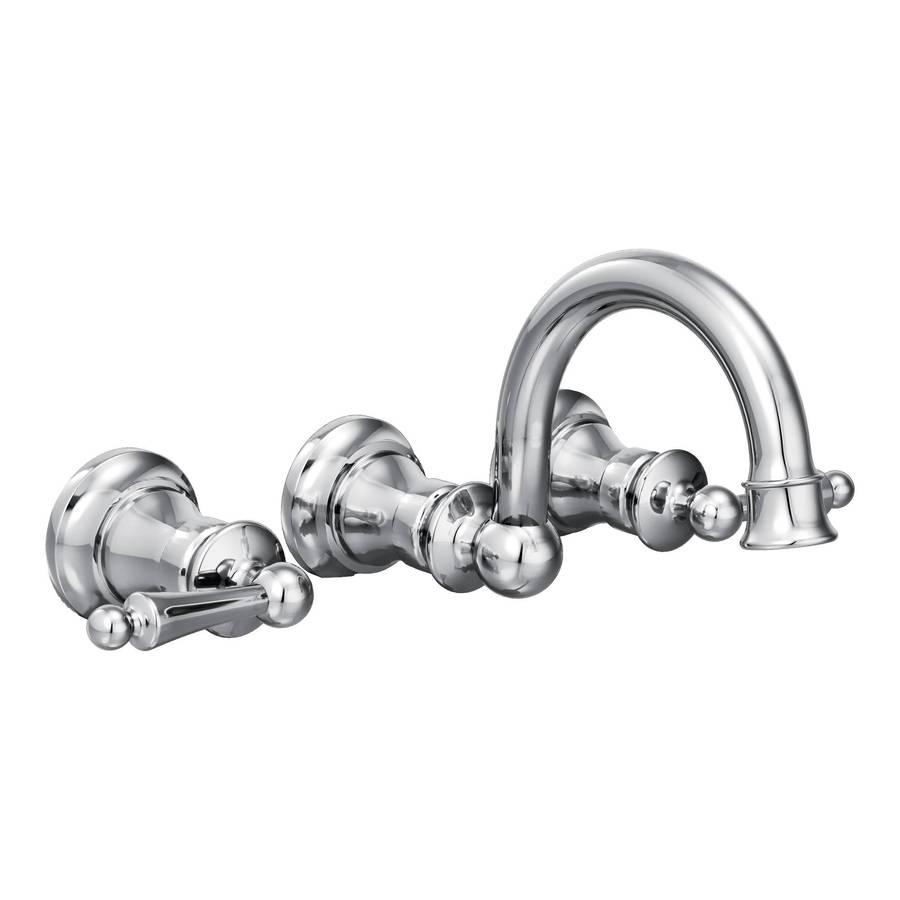 Moen Waterhill Chrome 2-Handle Widespread WaterSense Bathroom Faucet