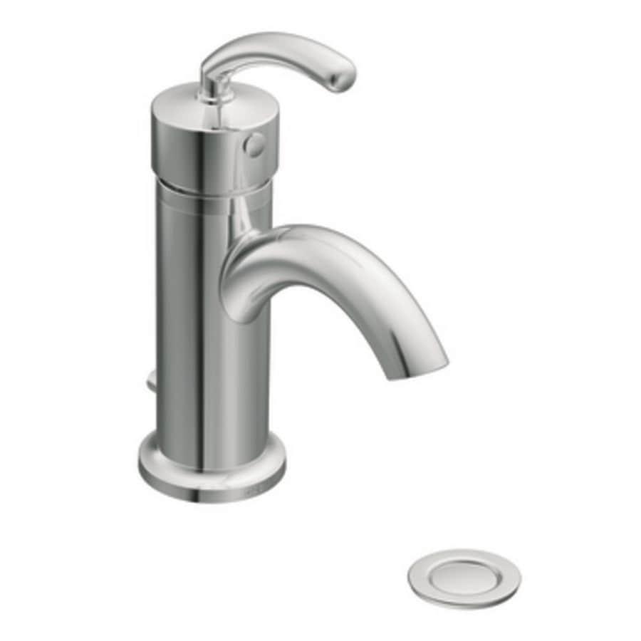 Moen Icon Chrome 1-Handle Single Hole WaterSense Bathroom Faucet (Drain Included)