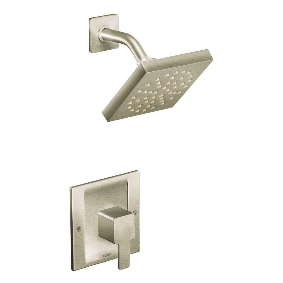 Moen 90 Degree Brushed Nickel 1-Handle WaterSense Shower Faucet with Single Function Showerhead