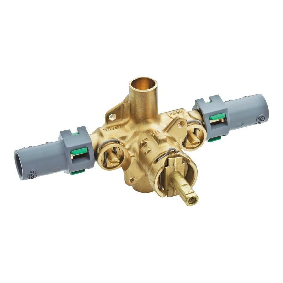 shop moen 1 2 in brass compression in line rough in valve at. Black Bedroom Furniture Sets. Home Design Ideas