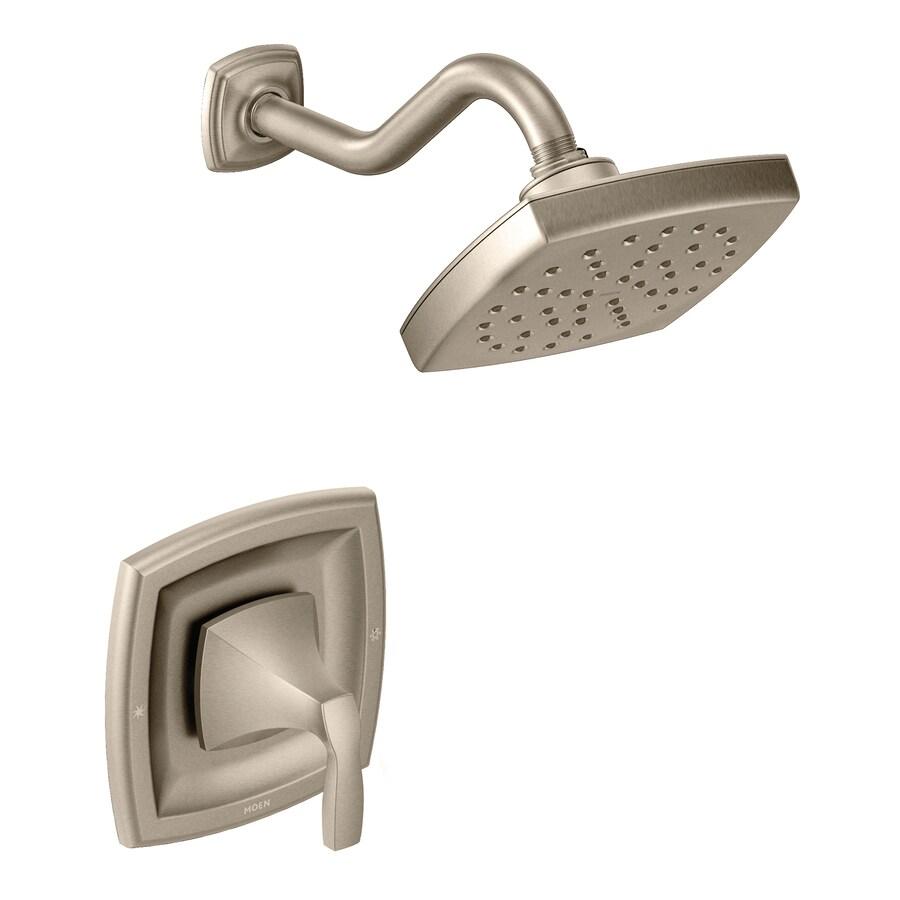 Moen Voss Brushed Nickel 1-Handle Shower Faucet with Rain Showerhead