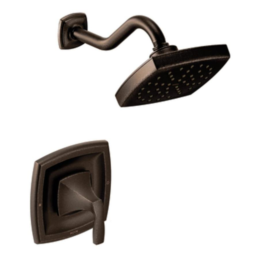 Moen Voss Oil-Rubbed Bronze 1-Handle Shower Faucet with Rain Showerhead