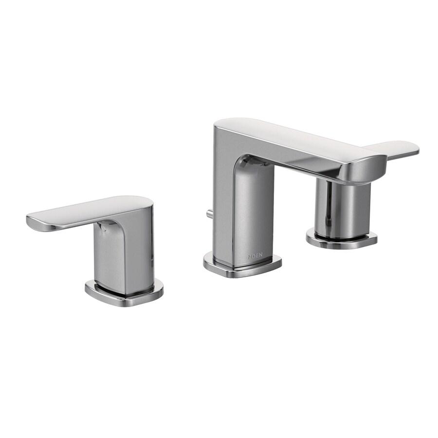 Moen Rizon Chrome 2-Handle Widespread WaterSense Bathroom Faucet (Drain Included)