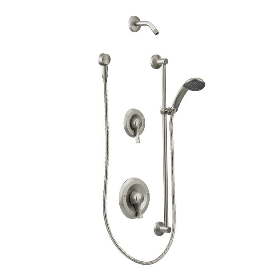 Moen Commercial Classic Brushed Nickel 1-Handle Shower Faucet with Single Function Showerhead