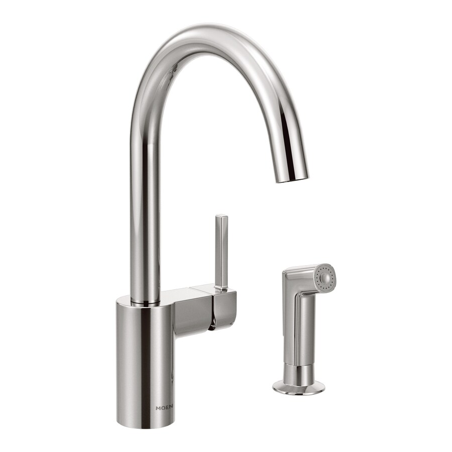 Shop Moen Align Chrome 1 Handle High Arc Kitchen Faucet With Side Spray At