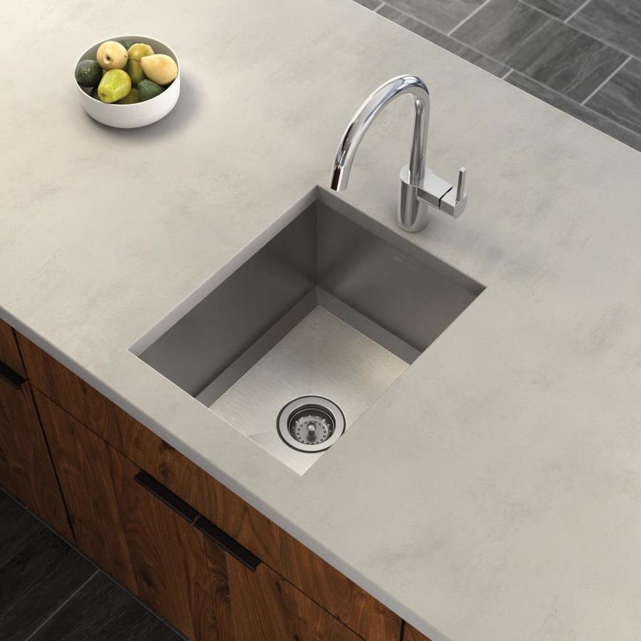 Moen 1600 Series Single-Basin Stainless Steel Undermount Residential Prep Sink