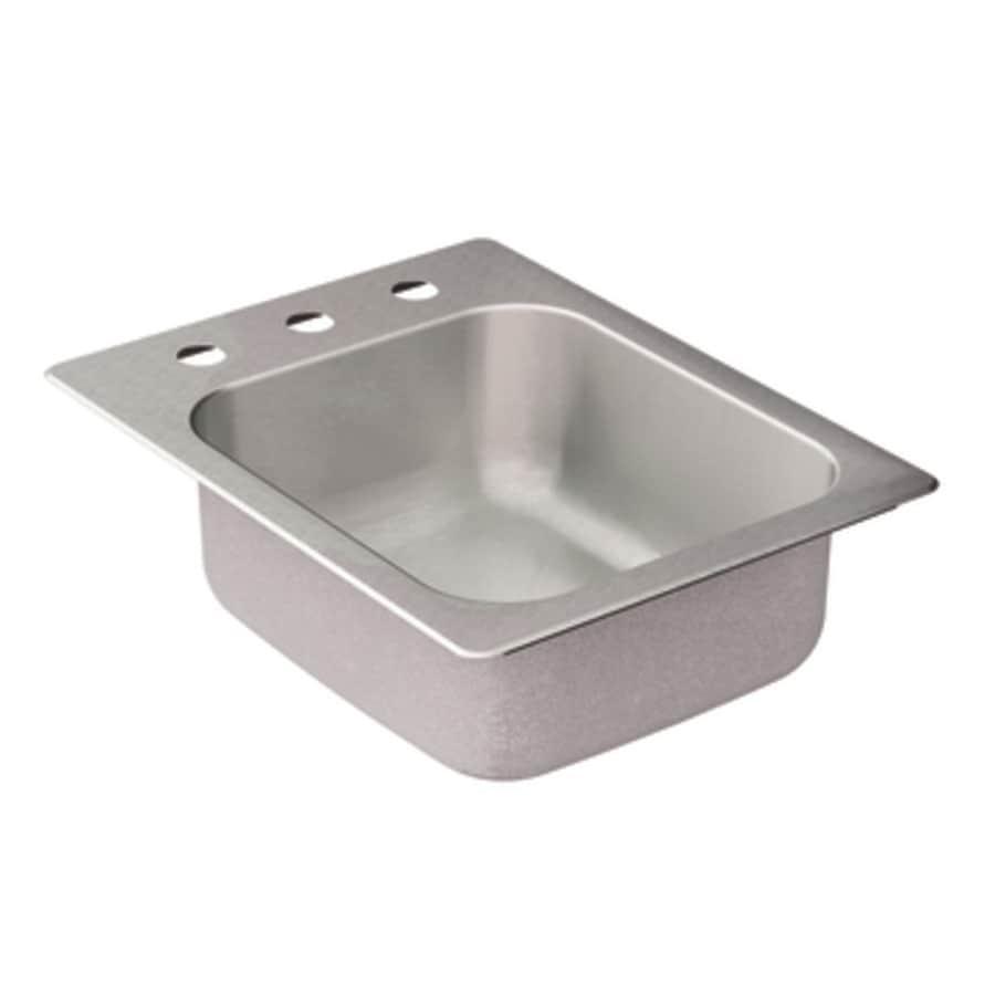 Shop Moen 2000 Series Single Basin Stainless Steel Drop In Residential Prep Sink At