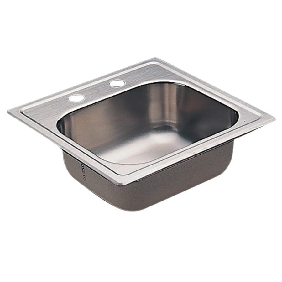 Moen 2200 Series Single-Basin Stainless Steel Drop-In Residential Prep Sink