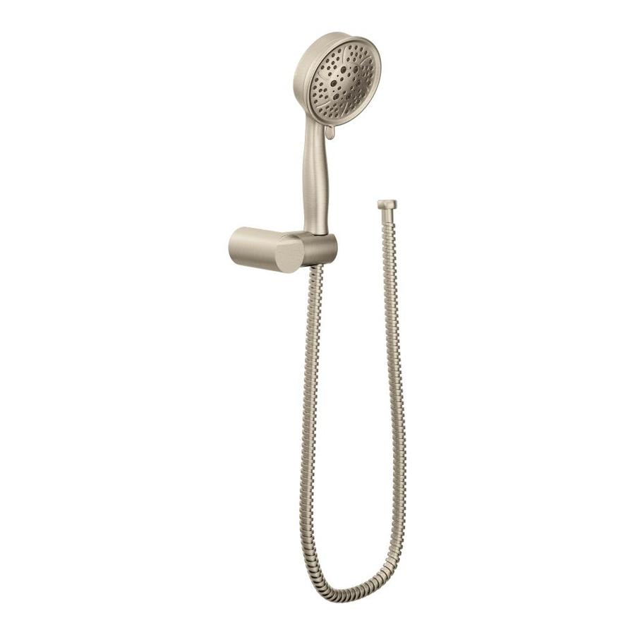 Moen Temp 4.375-in 2.0-GPM (7.6-LPM) Brushed Nickel 4-Spray WaterSense Hand Shower