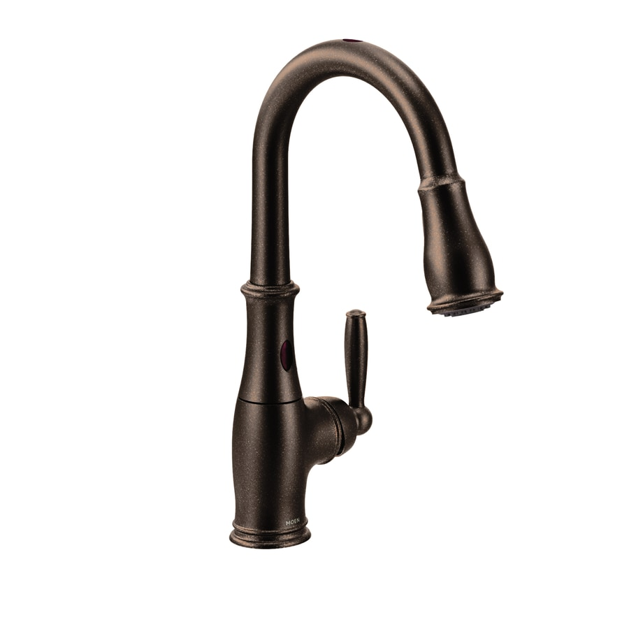Shop Moen Brantford with Motionsense Oil Rubbed Bronze 1 ...