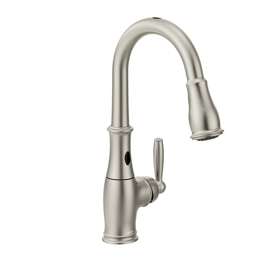 Shop Moen Brantford With Motionsense Spot Resist Stainless 1 Handle Pull Down Touchless Kitchen