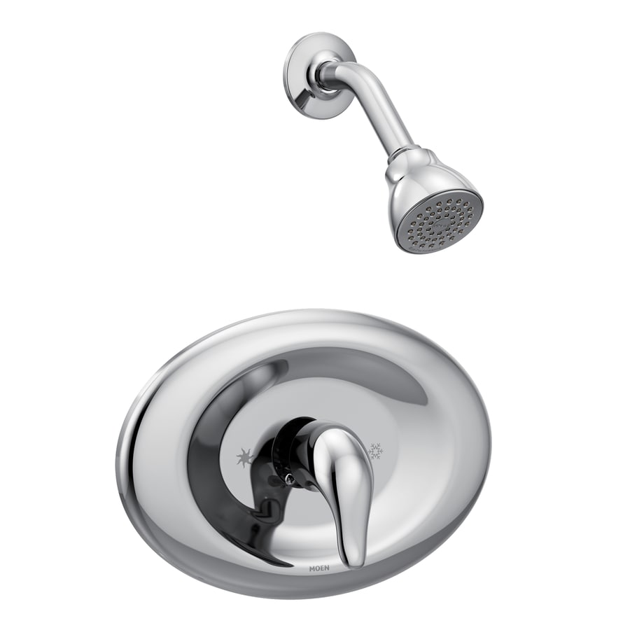 Shop moen chateau chrome 1 handle watersense shower faucet with single function showerhead at - Moen shower faucet ...
