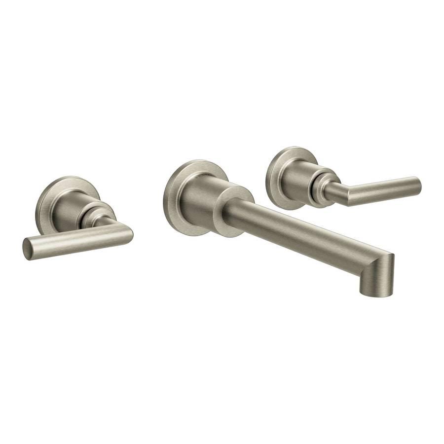 Moen Arris Brushed Nickel 2-Handle Widespread WaterSense Bathroom Faucet