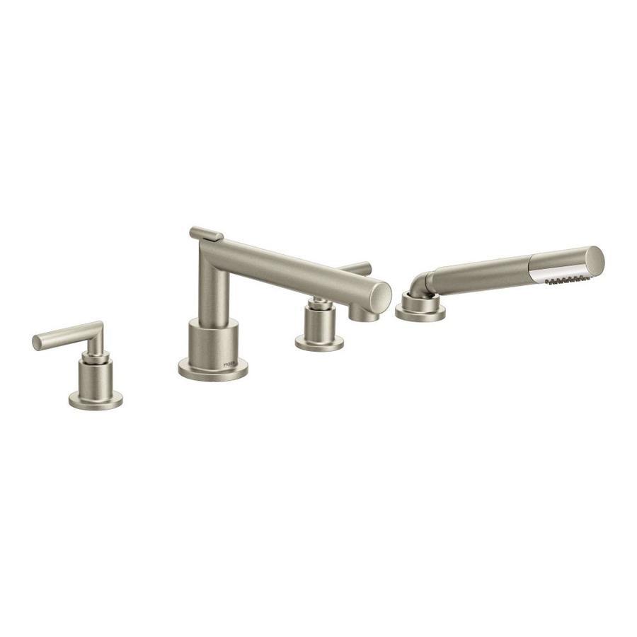 Moen Arris Brushed Nickel 2-Handle Adjustable Deck Mount Tub Faucet