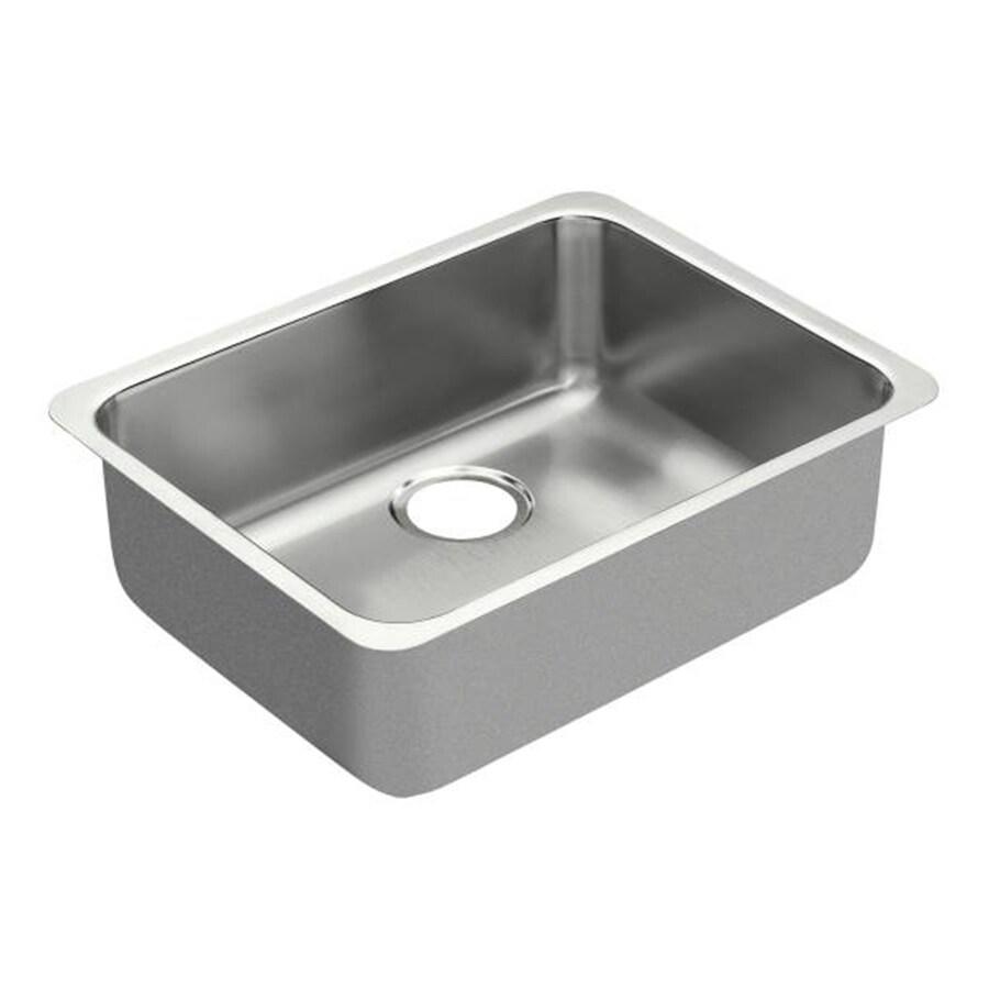 Moen 1800 Series 23-in x 18-in Stainless Steel Single-Basin Undermount Commercial Kitchen Sink