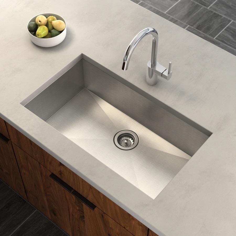 Moen 1800 Series 18-in x 31.25-in Stainless Steel Single-Basin Undermount Residential Kitchen Sink