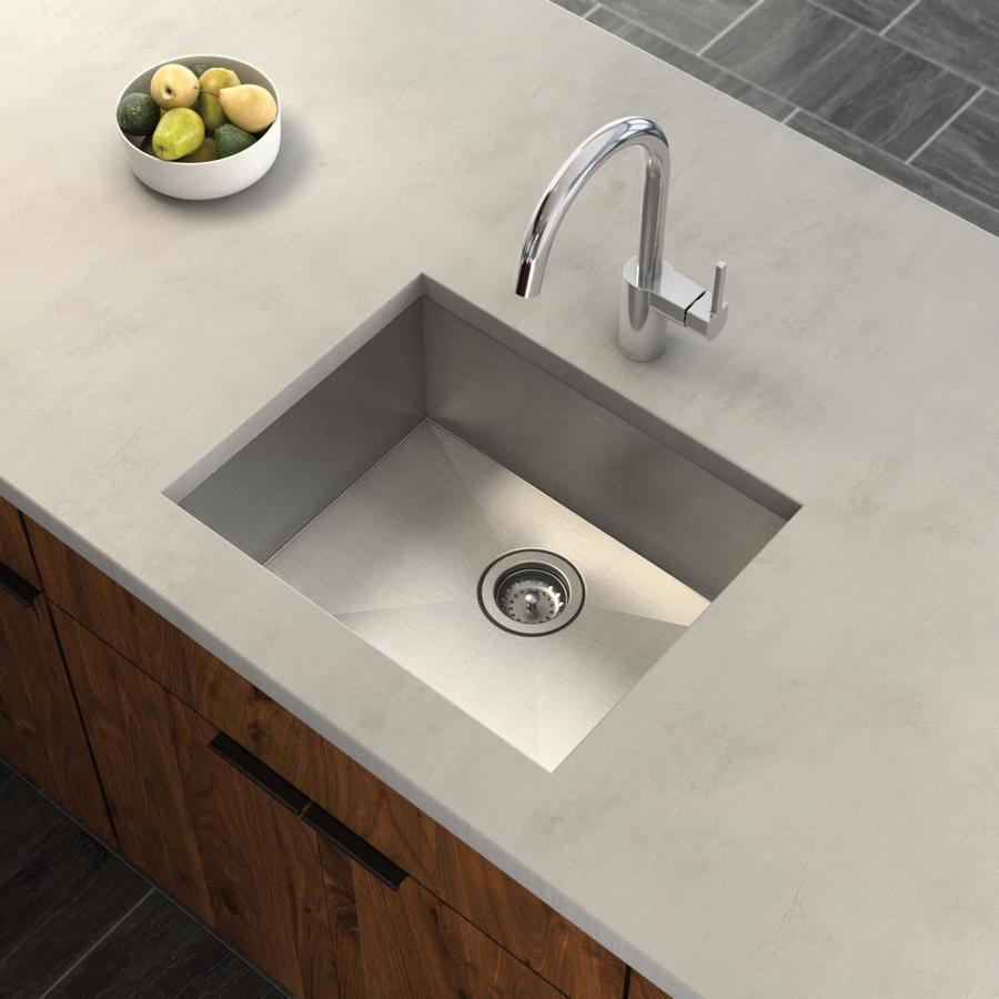 Moen 1800 Series 20-in x 22-in Stainless Steel Single-Basin Undermount Residential Kitchen Sink