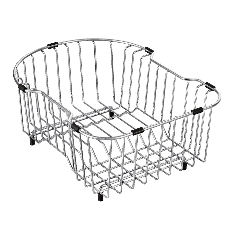 Moen 11.14-in W x 14.65-in L x 6.625-in H Metal Dish Rack and Drip Tray