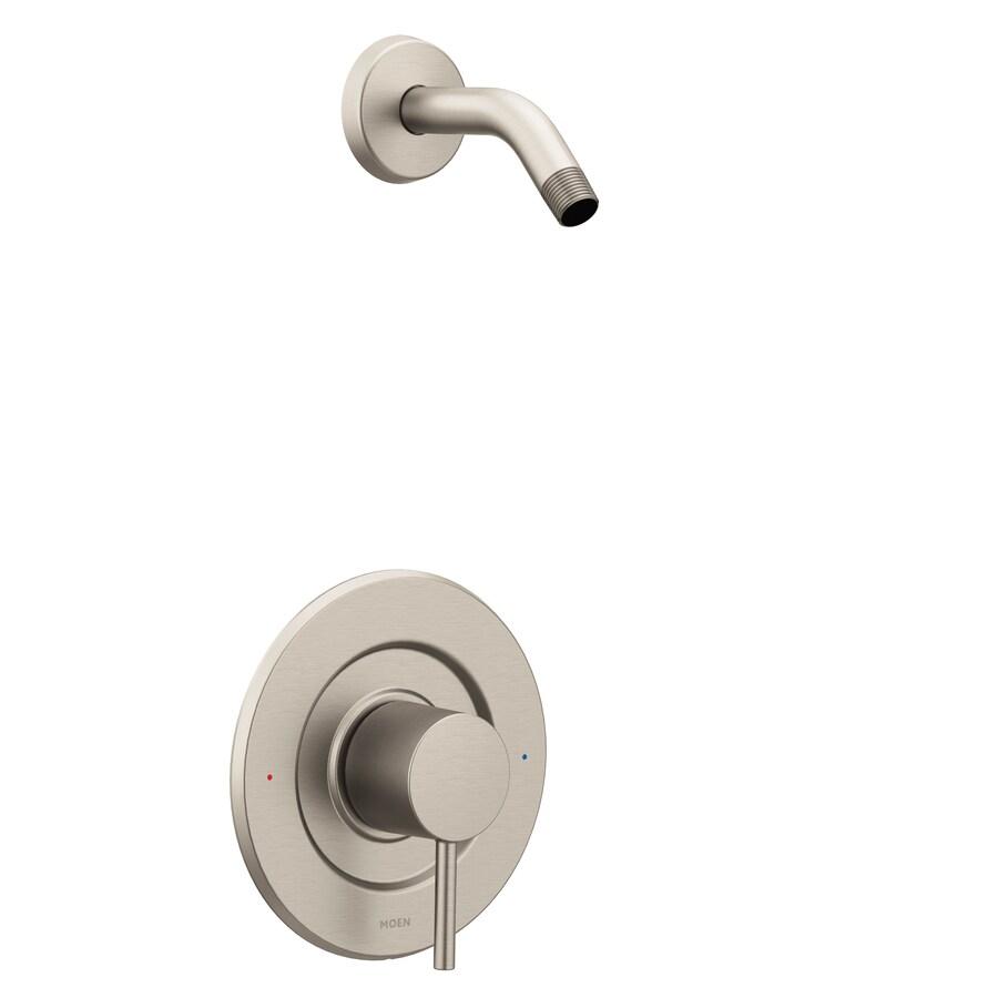 Shop Moen Align Brushed Nickel 1 Handle Shower Faucet At