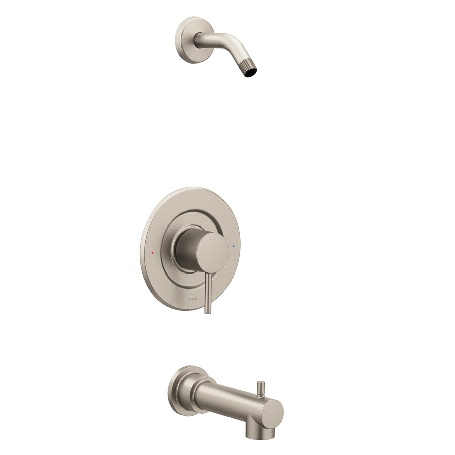 Shop Moen Align Brushed Nickel 1 Handle Bathtub And Shower Faucet At