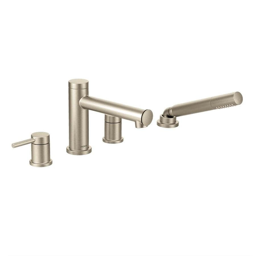 align brushed nickel 2 handle bathtub and shower faucet at