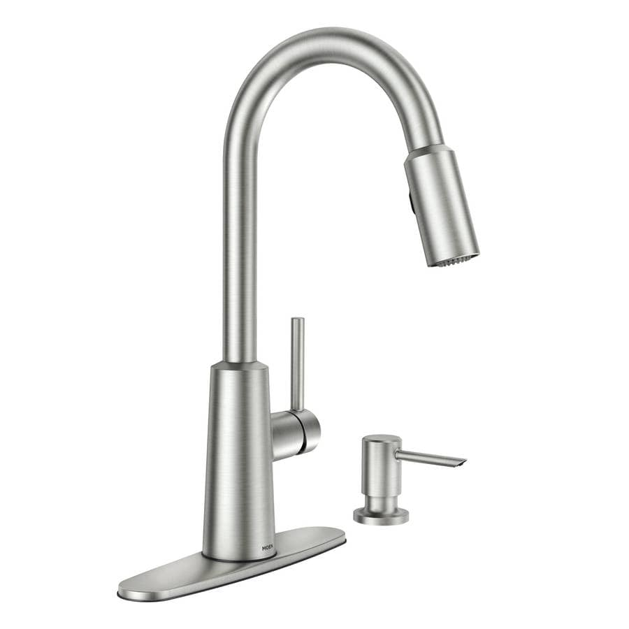 Shop Moen Nori Spot Resist Stainless 1 Handle Pull Down Kitchen Faucet At Lowes Com