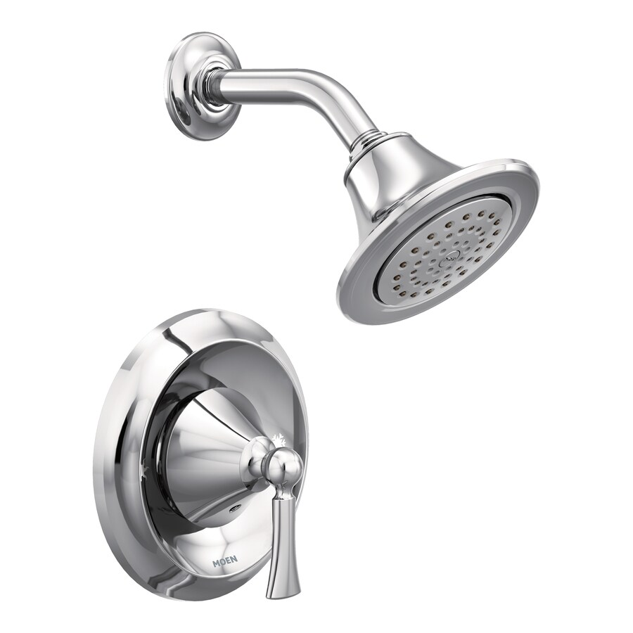 Moen Wynford Chrome 1-Handle Shower Faucet with Single Function Showerhead