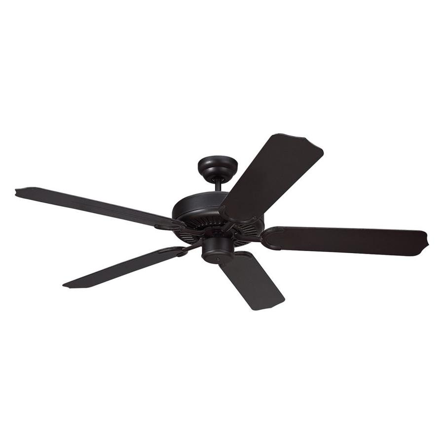 Monte Carlo Fan Company Weatherford 52-in Black Downrod Mount Ceiling Fan ENERGY STAR