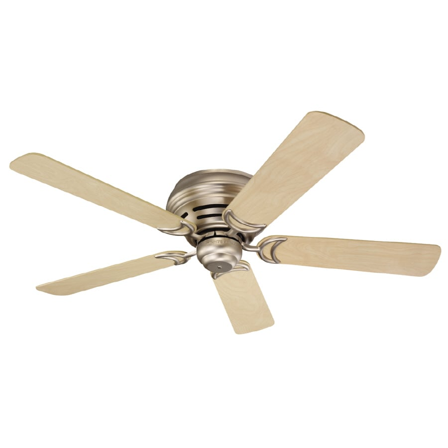 Monte Carlo Fan Company 52-in Designer Hugger Brushed Pewter Ceiling Fan