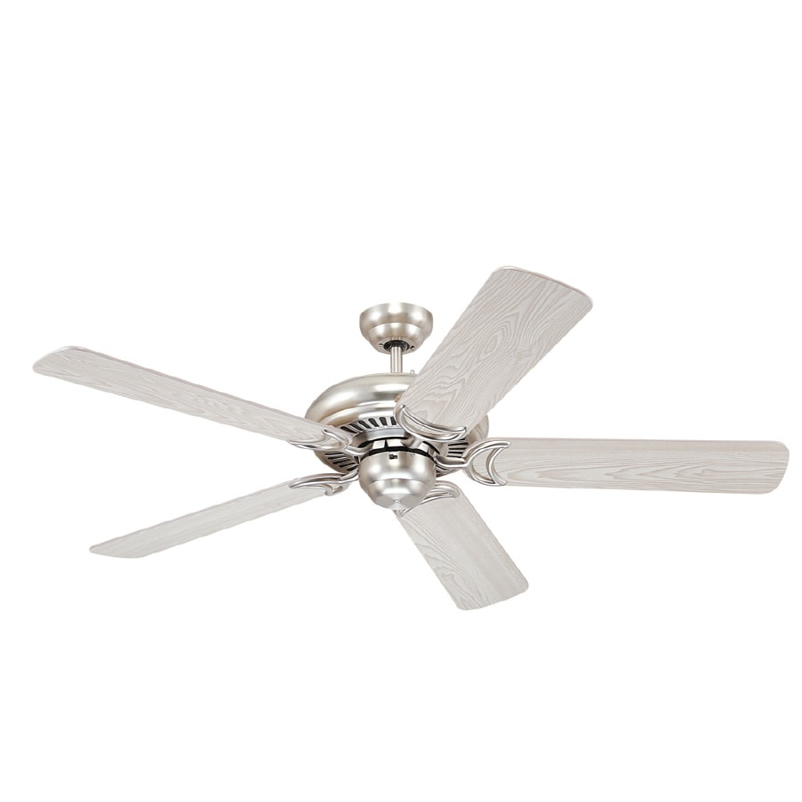 Monte Carlo Fan Company 52-in Designer Supreme Brushed Steel Ceiling Fan