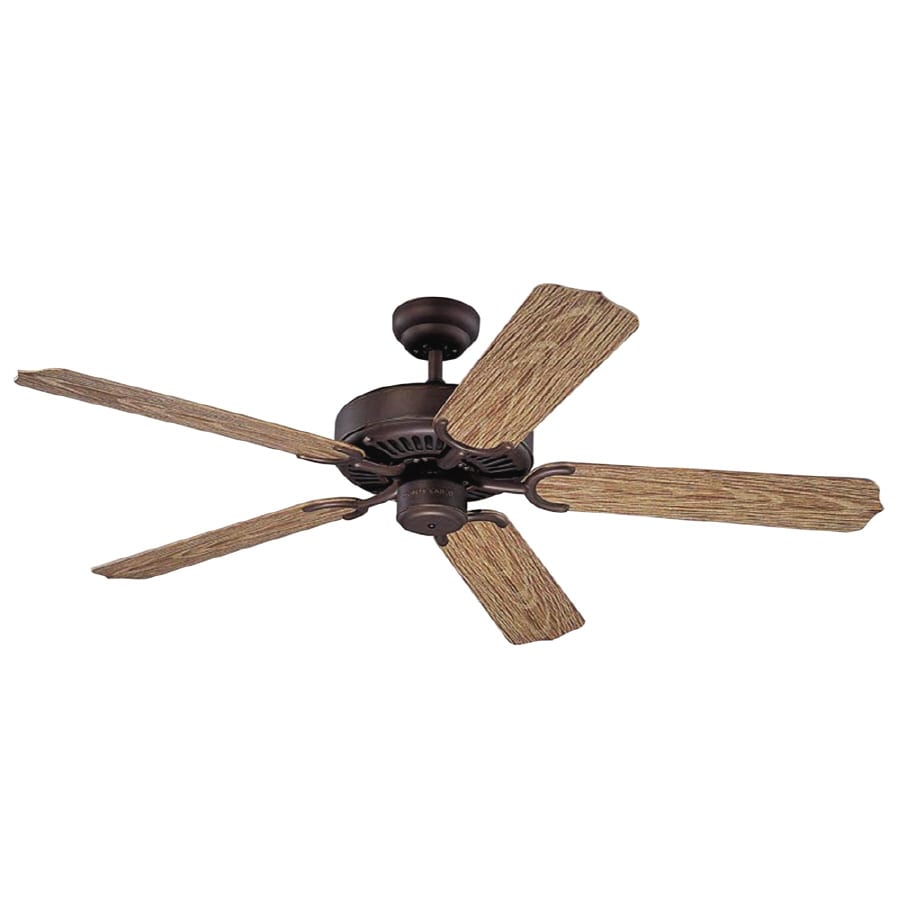 Monte Carlo Fan Company Weatherford 52-in Roman Bronze Downrod Mount Ceiling Fan ENERGY STAR