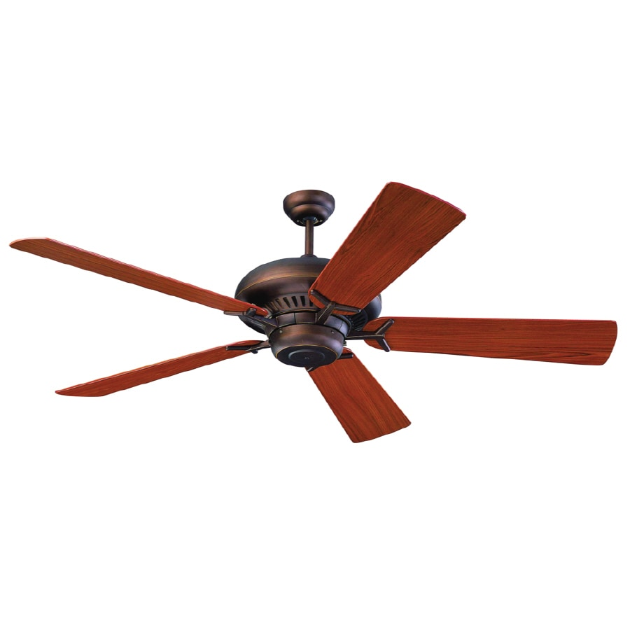 Monte Carlo Fan Company Grand Prix 60-in Roman Bronze Downrod Mount Ceiling Fan ENERGY STAR