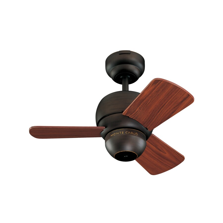 Monte Carlo Fan Company Micro 24-in Roman Bronze Multi-Position Ceiling Fan (3-Blade)
