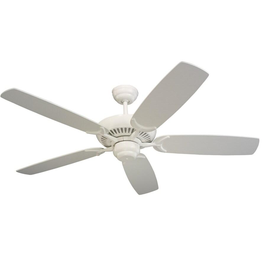Monte Carlo Fan Company Colony 52-in White Multi-Position Ceiling Fan ENERGY STAR