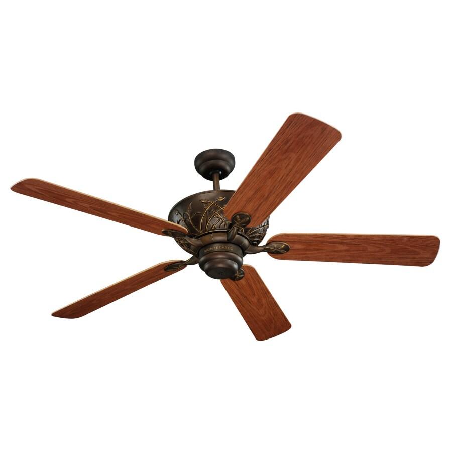 Monte Carlo Fan Company Bayshore 52-in Roman Bronze Downrod Mount Ceiling Fan ENERGY STAR