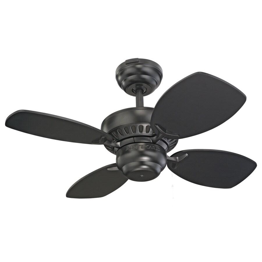 Monte Carlo Fan Company Colony II 28-in Black Multi-Position Ceiling Fan (4-Blade)