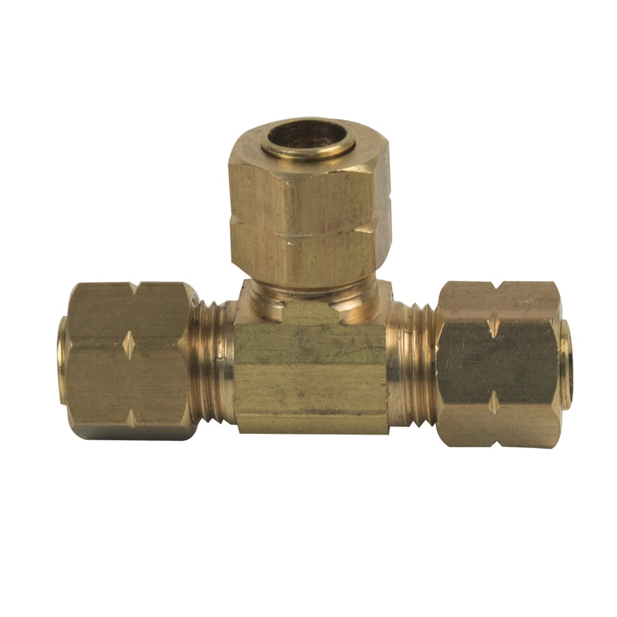 BrassCraft 1/4-in x 1/4-in x 1/4-in Compression Compression Coupling Tee Fitting