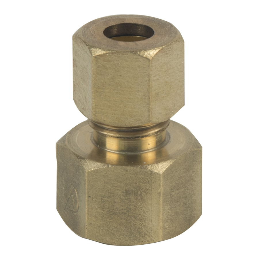 BrassCraft 3/8-in x 1/4-in Compression Reducing Union Coupling Fitting