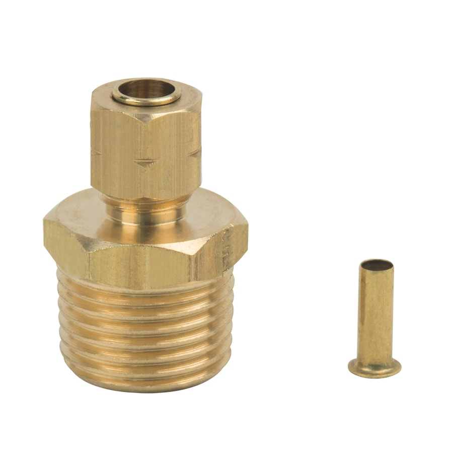 BrassCraft 1/4-in x 1/2-in Compression Compression x MIP Adapter Adapter Fitting
