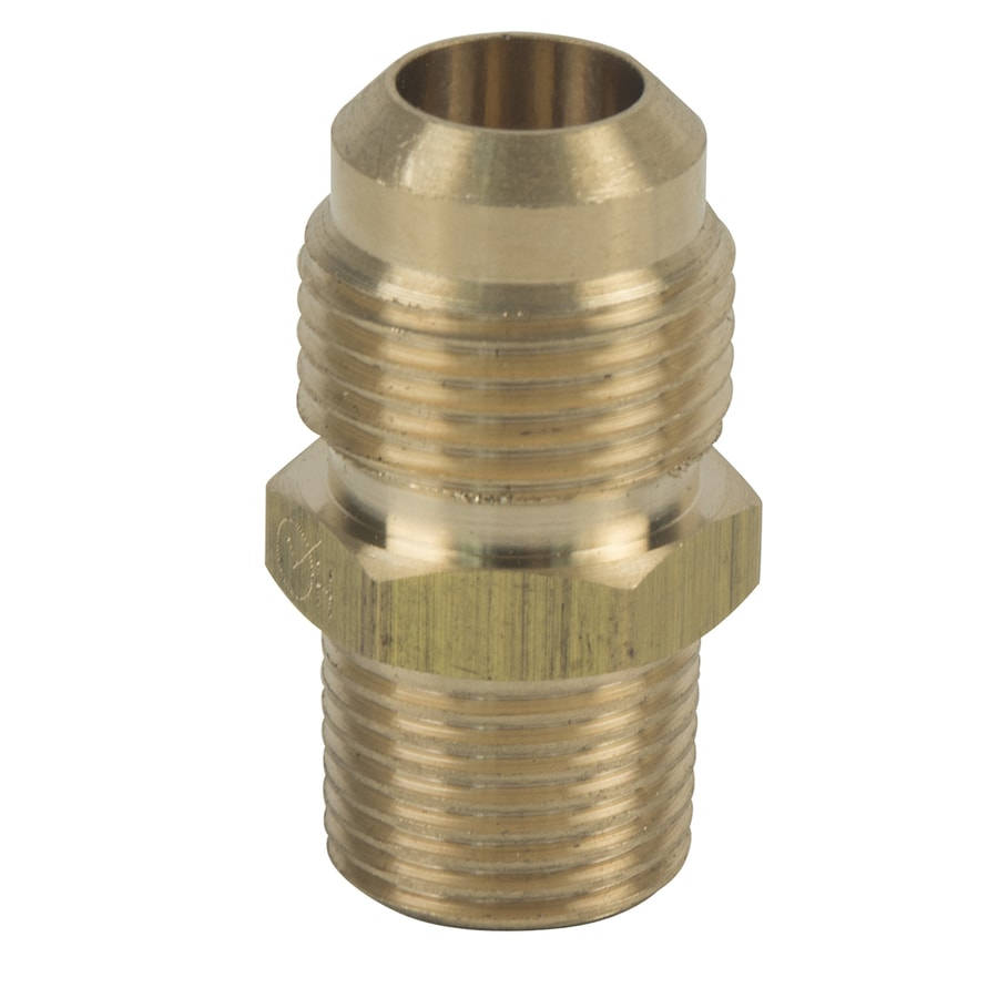 BrassCraft 1/2-in x 3/8-in Threaded Flare x MIP Adapter Adapter Fitting