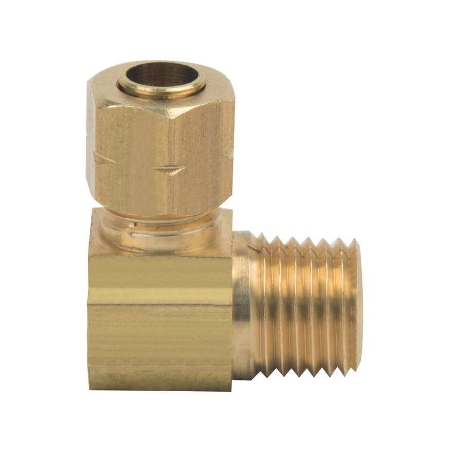 BrassCraft 1/4-in x 1/4-in Compression Compression x MIP Adapter Elbow Fitting