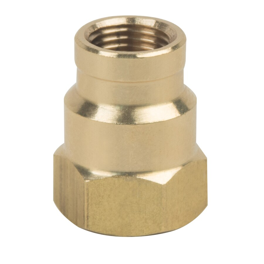 BrassCraft 1/4-in x 1/8-in Threaded Reducing Union Coupling Fitting