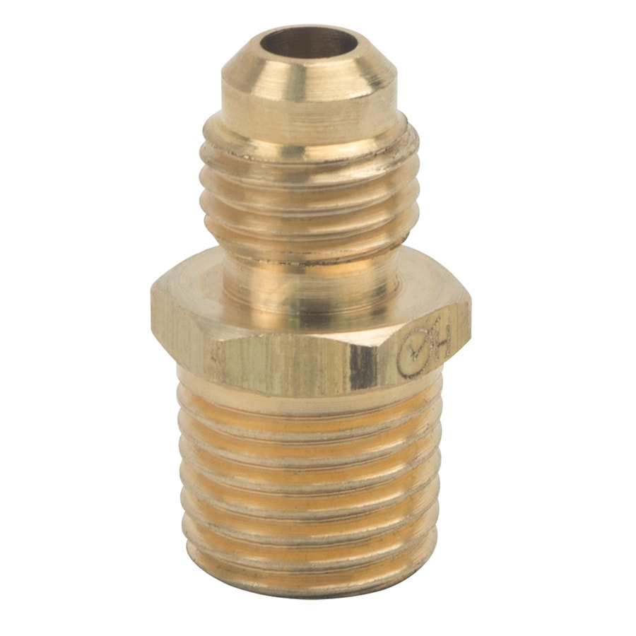 BrassCraft 1/4-in x 1/4-in Threaded Flare x MIP Adapter Adapter Fitting